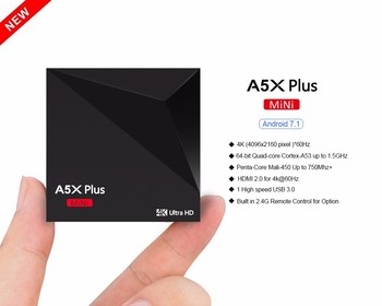A5X Plus RK3328 Android 7.0 Android TV Box 4k Global TV Box Android 7.0