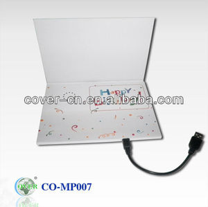 Newest Promotion gifts MP3 Postcard/greeting card with USB port