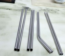 FDA 304 food grade Stainless steel straws with free brush diameter 6mm