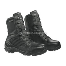 top quality leather and canvas upper pure black army Jungle Boot