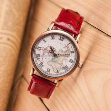 Fashion watches female form of high-quality vintage map of Rome copper shell surface table quartz watch wholesale