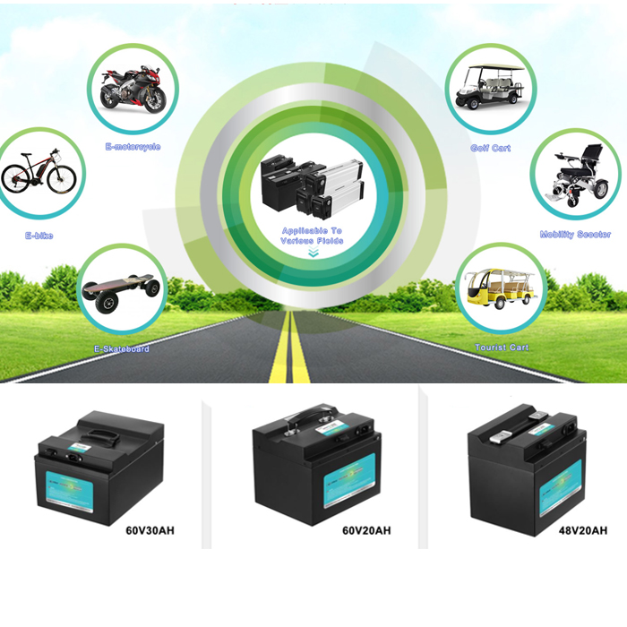 60V motorcycle battery 60V 40Ah 18650 lithium ion battery for electric scooter electric bike electric motorcycle