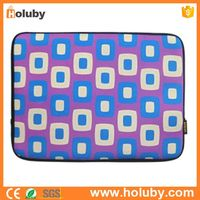 Enkay Hat-Prince ENK-2004 Soft Sleeve Case Zipper Bag for MacBook 9.7 inch / iPad Air 1 / 2 / 3 / 4 - Purple + Blue + White