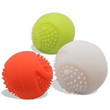 Ball Toys Safe for Cats Dogs Colorful Soft Silicone Cat Dog Tennis Balls