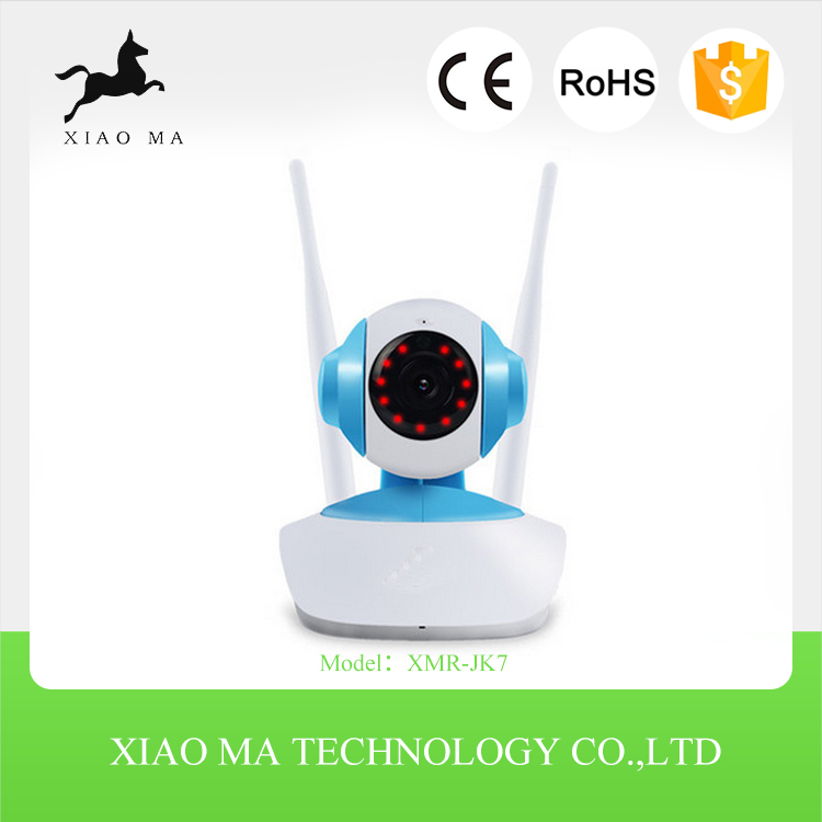 720p onvif robot wireless ip camera with IR monitor p2p indoor wifi wired/wireless mini ip camera XMR-JK7