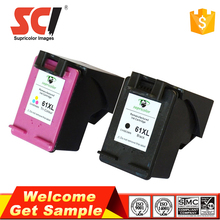 Wholesale compatible hp 61 2pack combo ink cartridges
