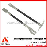 vehicle rescue tools crowbar 2 pcs kit alloy material Model QFS-A