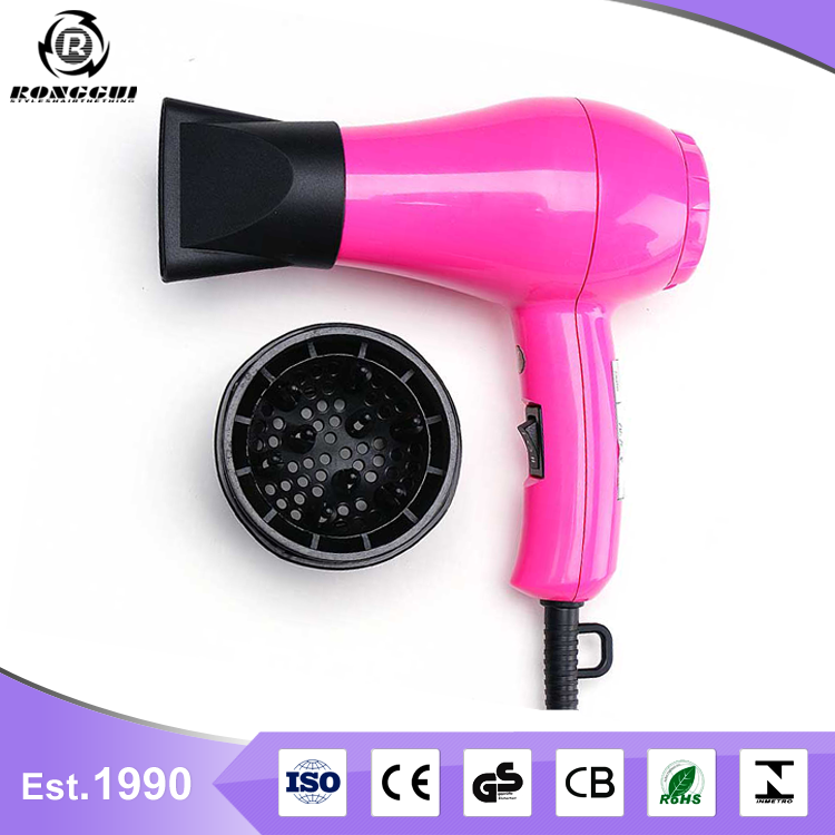 RONGGUI Wholesale ISO900 Certificate Hotel Travel Cordless Gas Powered Mini Hair Dryer