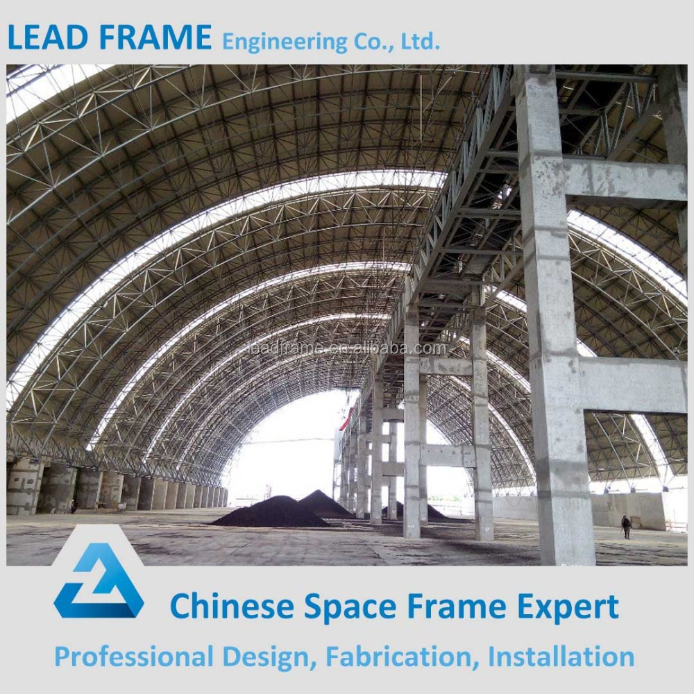 Steel arch roof prefabricated warehouse building