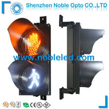 yellow hand and white Pedestrian Crossing Traffic signal Light