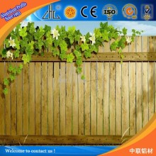 WOW! 6000 series aluminium extrusion fence profile/ 6063 aluminium wooden fense / wood grain fence