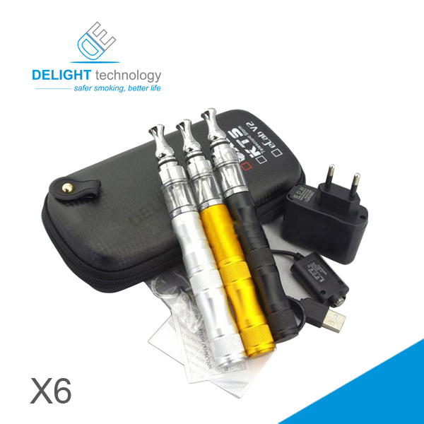 Newest design variable voltage x6 e cigarette best quality 1300mah battery x6 e cig