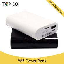 wifi and apps supported 7800mAh portable mobile power bank wifi adapter