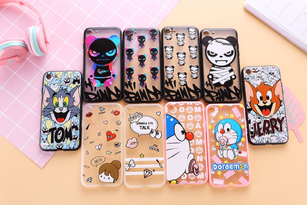 New Cheap and Good PC TPU Cartoon Tom And Jerry Relief Cover Case For Iphone6/6Plus/7/7Plus