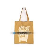 Factory cheap price yellow canvas tote bag printing