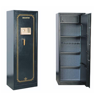 Strong 2016 Metal Gun Types Of Safes Box Cabinet Security Storage Four Tiers Locker