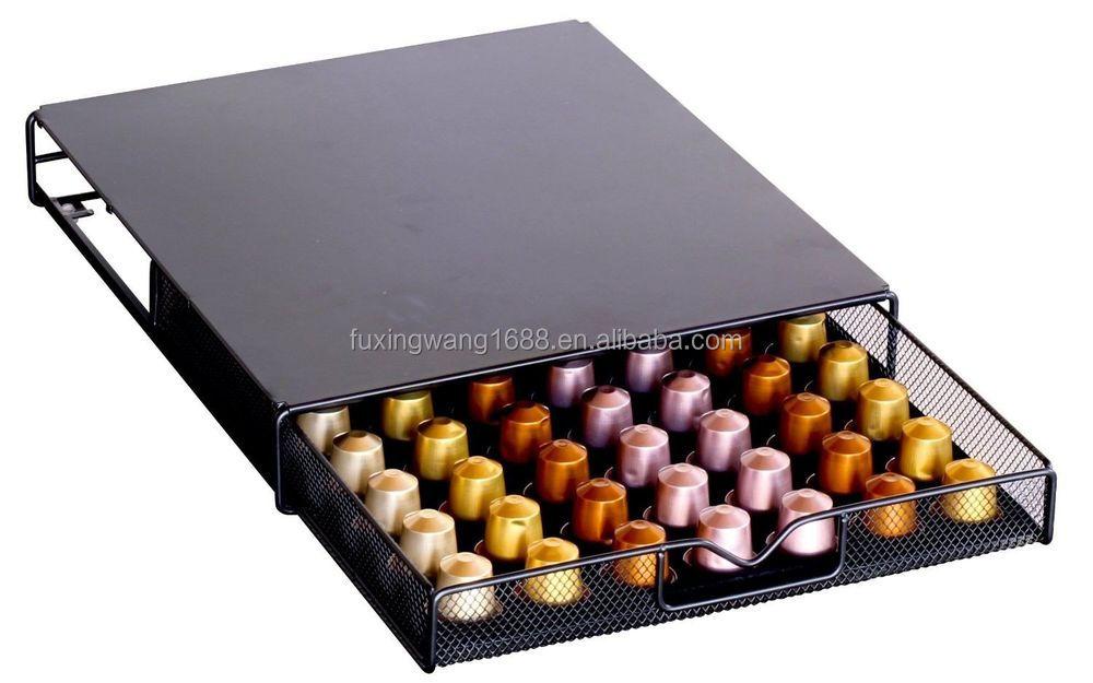 Decobros dosette de caf de rangement maille nespresso tiroir support pour 56 - Rangement dosette nespresso ...