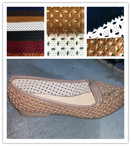 Fashion Napa Embossed Artificial leather with Yangbuck Lining for shoes, PU Leather, Synthetic Leather