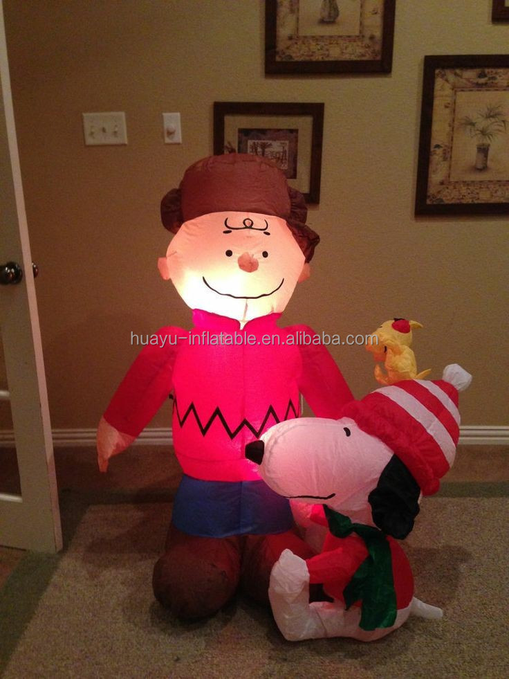 inflatable christmas santa cartoon decoration/inflatable snowman christmas