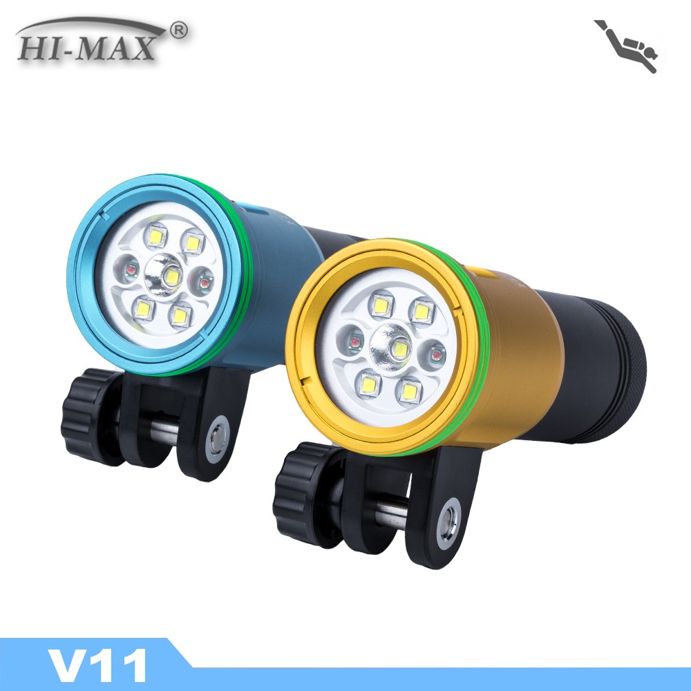 Hi Max V11 Rechargeable Powerful <strong>Diving</strong> Flashlight <strong>Torch</strong>