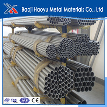 super quality purity 99.95% annealed Titanium tube pipe from china producer