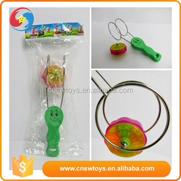 Promotional spinning top toy Flashing Plastic magnetic YOYO with circle railway