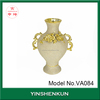 Gold plated ceramic house design centerpiece vase wedding gift