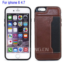 Luxury Mobile Phone Ultra Slim Protective Carrying Wallet Genuine Leather Cell Phone Case for iPhone 6 Case