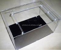 customized clear acrylic pet box,reptile pet cage box