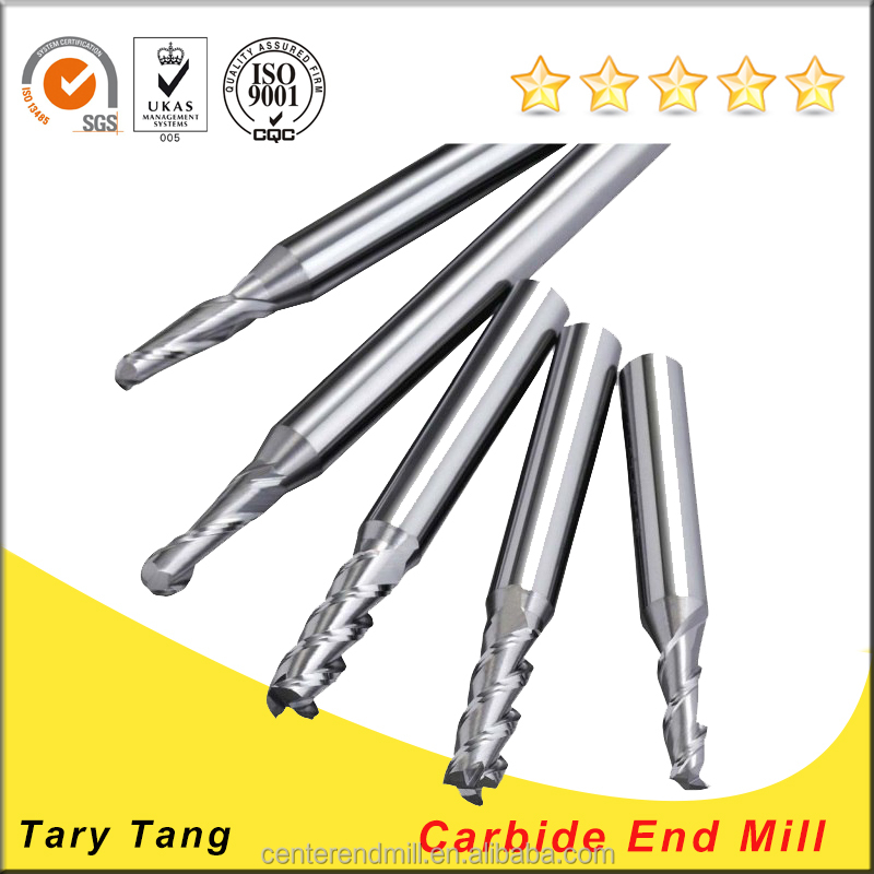 Solid Carbide Spiral End Mill Cutter Size/ CNC Lathe Cutting Tool/Tungsten Carbide TiAlN Square End Milling Cutters
