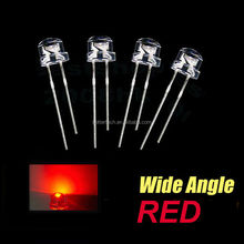 Straw Hat 5mm led diode ultra bright RED CE ROHS approve