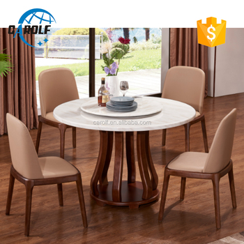 6 Seater Solid Wood Italy Style Luxury Dining Table Set