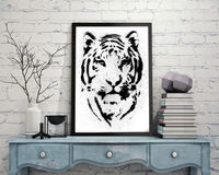 tiger head digital print canvas frame wall pictures art for living room decorative canvas painting drop shipping