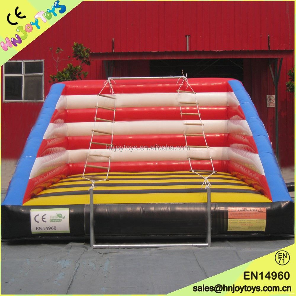 Popular and cheap inflatable rope ladder games for sale