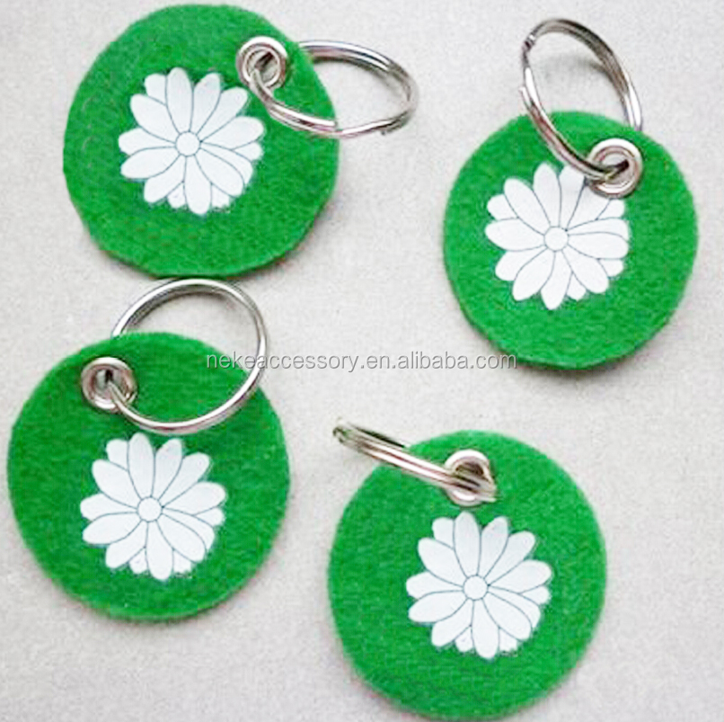 promotion customized wool felt key ring