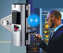 Smart remote control NFC biometric fingerprint lock for glass doors