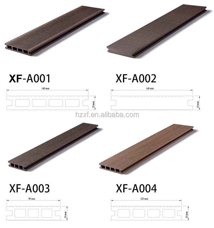 Long Lasting Non Cracking Wpc Decking Outdoor Flooring
