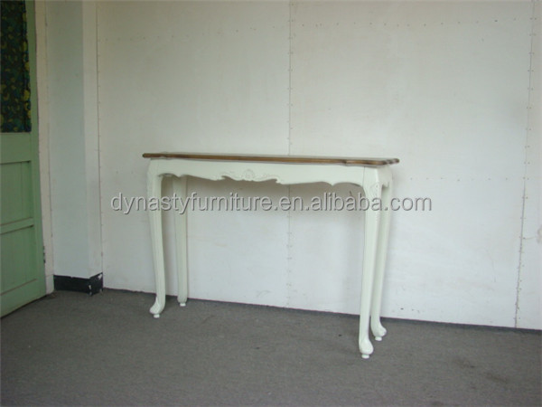 Antique Furniture wood carved console table with white legs