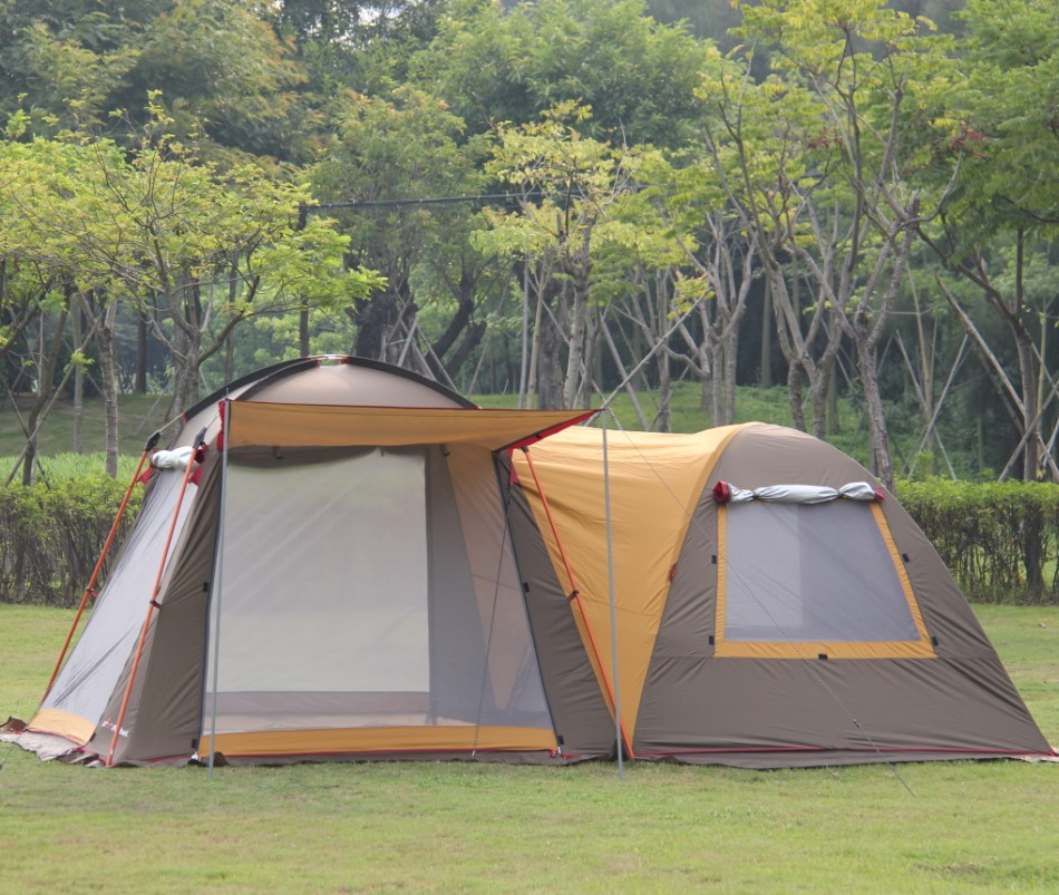 T22 double big camping tent 2 room family tent 3-4 people