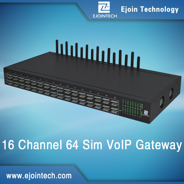 16 channel voip internet calls and sms sip gateway 16 sim card multi-port modem 4g lte