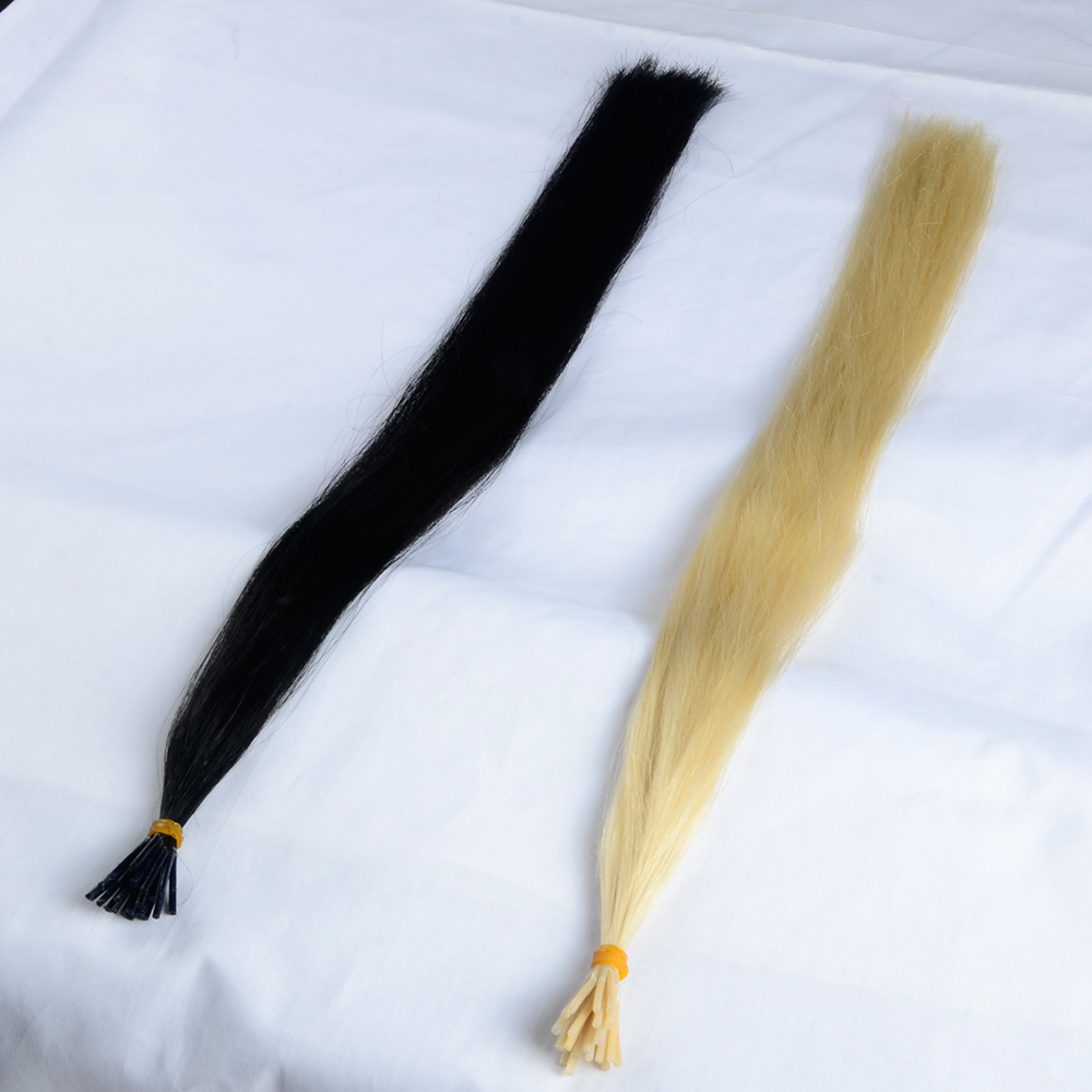 I tip hair extension double loop