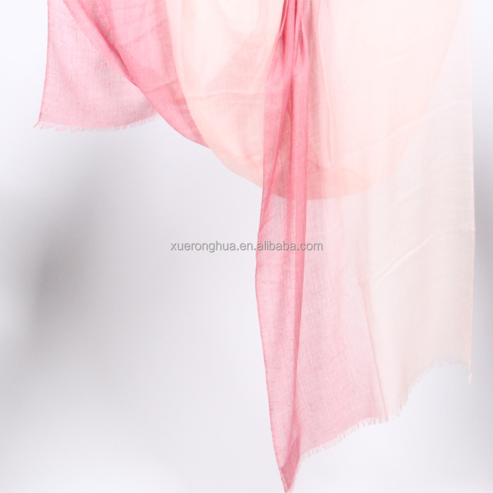pure kashmir wool ombre shawl
