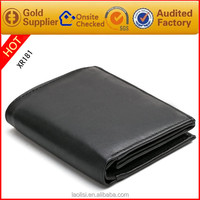 RFID Men's genuine leather travel card wallet on sale