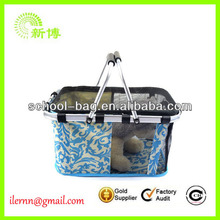 Small and cute pet carrier bag for dogs with golden handle