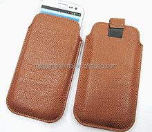 Universal leather mobile phone case for cell phone samsung s3/4/5