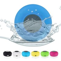 Yellow Wireless Hands-free Waterproof Suction-cup Bathroom Bluetooth Speaker