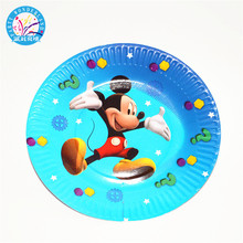 China manufacturers mickey round paper <strong>plates</strong>