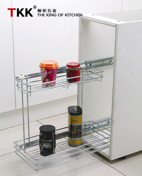 Side Pull Out Kitchen Cabinet Wire Basket Storage