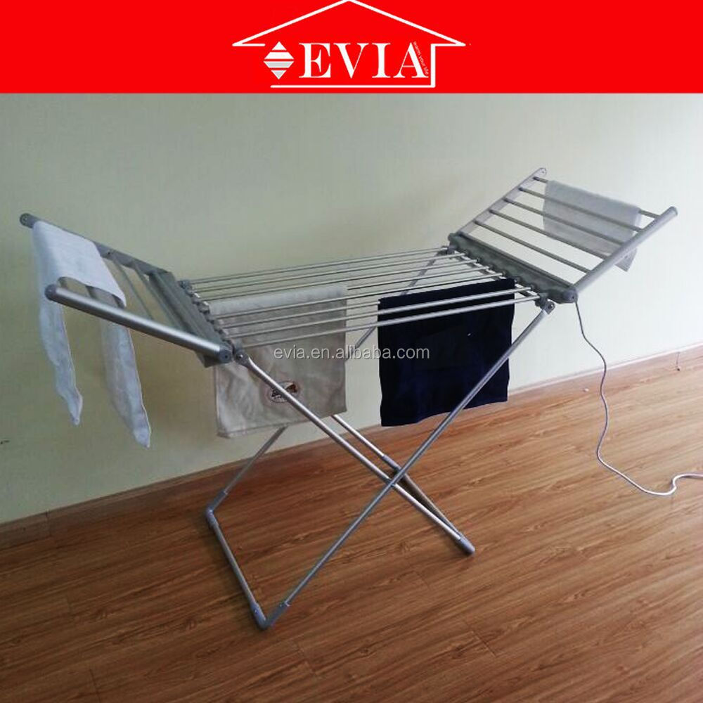 EVIA electric heater brief application clothes rack,Alibaba 8 years High-quality Supplier Folding Electric Clothes Warmer