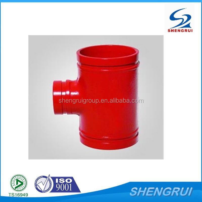 FM/UL Approved Ductile Iron Pipe Fittings Grooved Tee